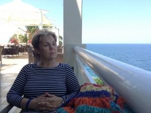 Meditáció a tenger mellett