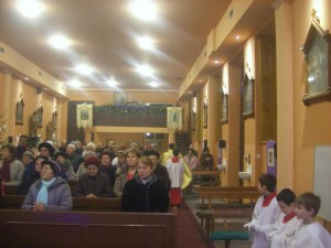 Szabadkán templomban, 2015