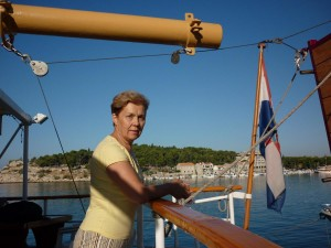 Hajóval az Adrián Hvar felé 2013