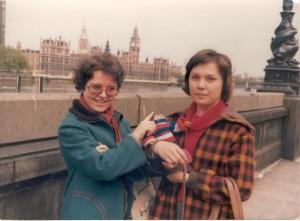 Londonban a Thames partján, 1979