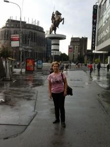 Skoplje központjában, Macedónia